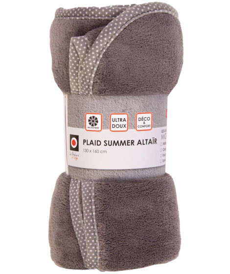 Plaid Summer Altair Gris 130 X 160