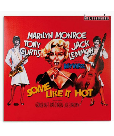 Affiche de Ciné Marilyn Monroe Some Like It Hot