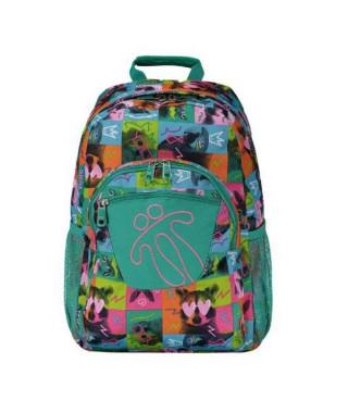 Cartable Animals Totto Acuareles Vert (44 X 35 x 14 cm)