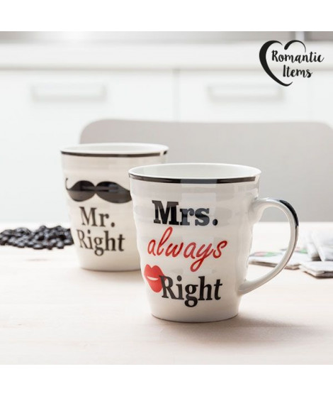 Tasses Mr. Right & Mrs. Always Right