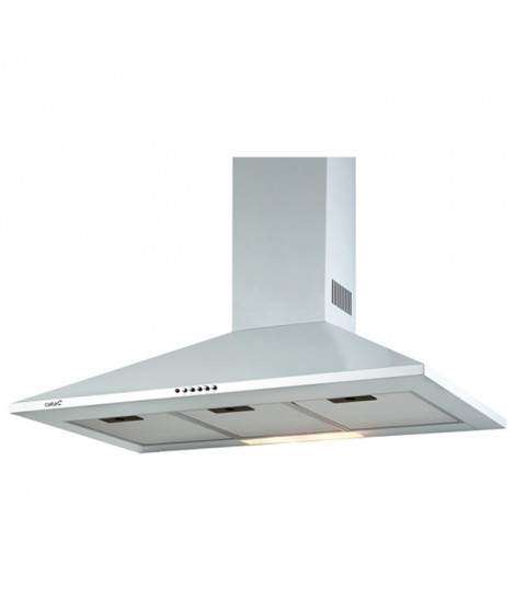 Hotte standard Cata OMEGA 700 WH 70 cm 645 m3/h 72 dB 270W Acier inoxydable