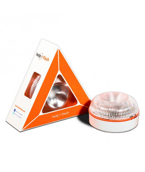 Dispositif de Signalisation d'Urgence Help-Flash LED IP54 Blanc