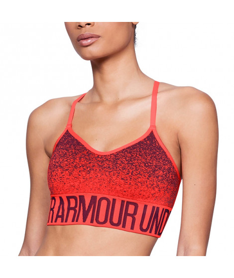 Soutien-gorge de Sport Under Armour 1282916-985 Orange (Taille l)
