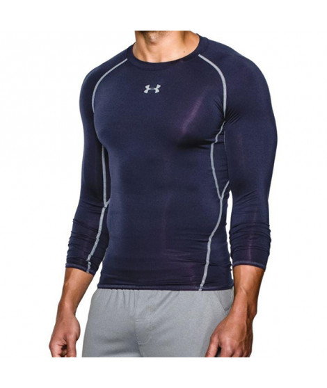 T-shirt de Compression à Manches Longues pour Homme Under Armour 1257471-410 Blue marine