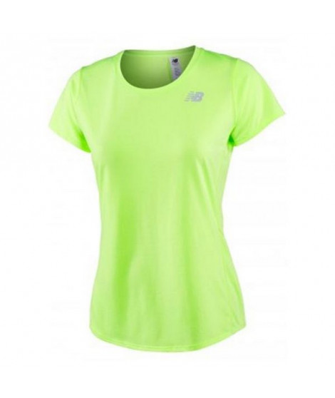 T-shirt à manches courtes femme New Balance ACCELERATE Jaune Fluorescent