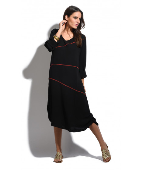Robe MONICA Noir / Rouge