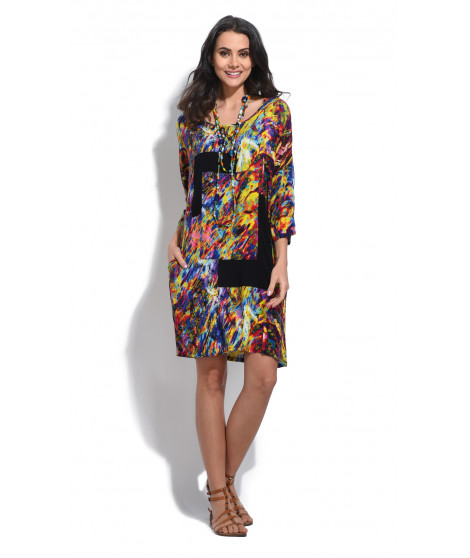 Robe EMMA Jaune / Multicolore