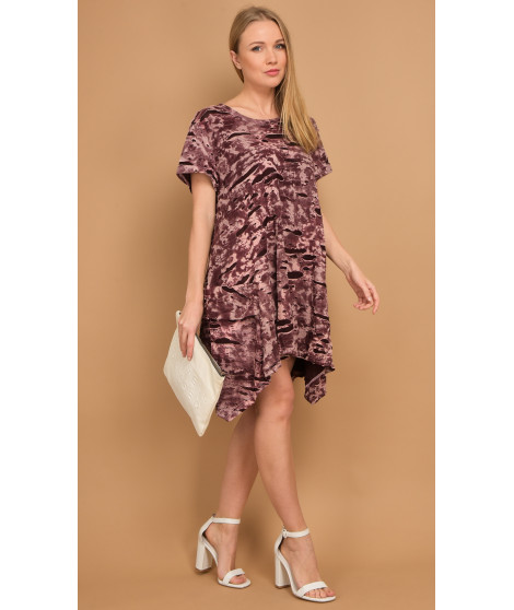 Robe ANOUK Bordeaux / Blanc