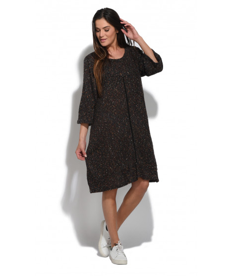 Robe RANYA Noir / Marron
