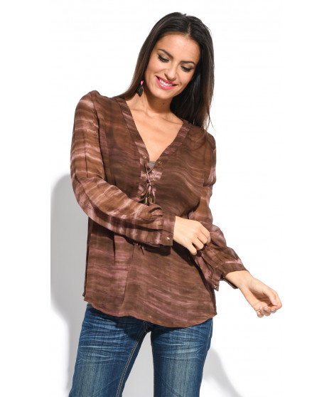 Blouse CHARLOTTE Marron