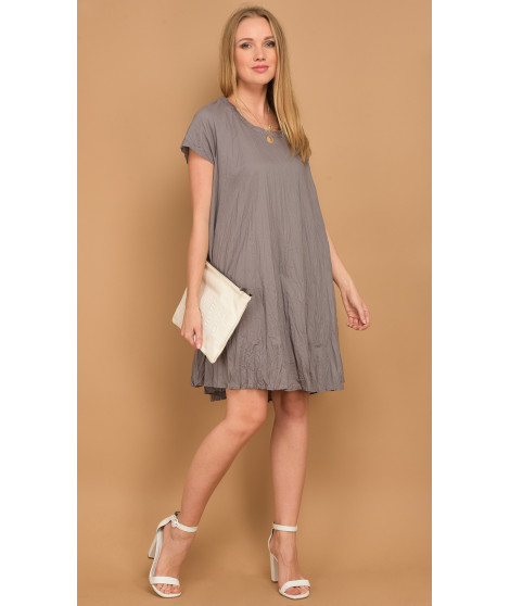 Robe FERGIE Gris taupe