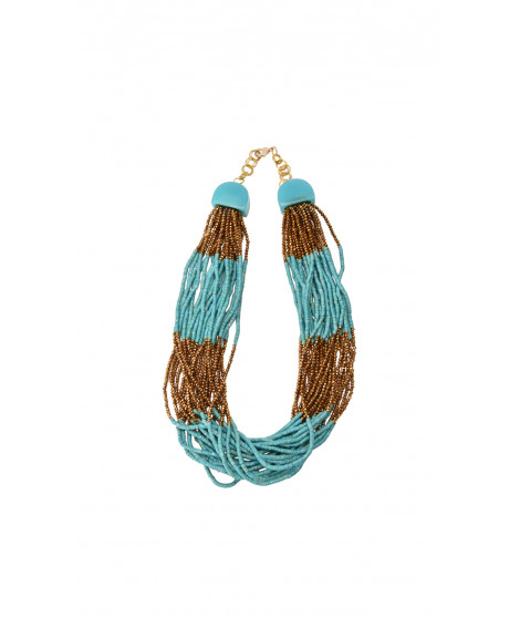 Collier ARES Turquoise / Doré