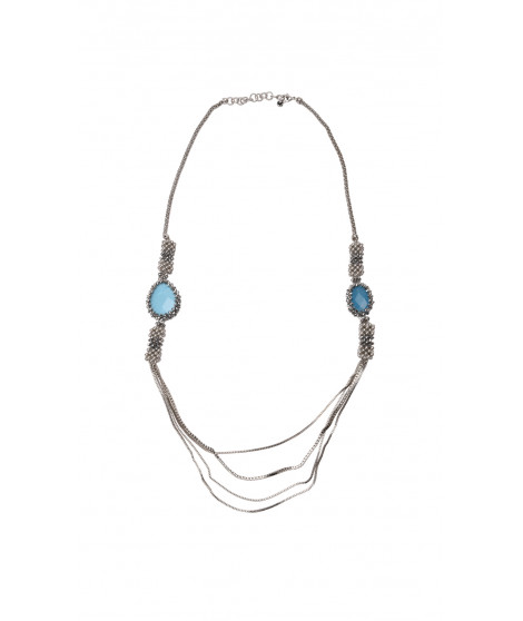 Collier MARGOT Argent / Turquoise
