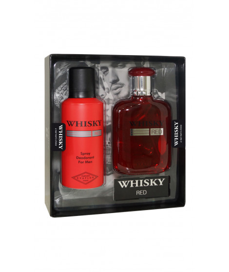 Coffret de parfum WHISKY RED Rouge