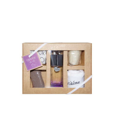 Coffret de parfum JE T'AIME TENDREMENT Coffret Spa Time Violet