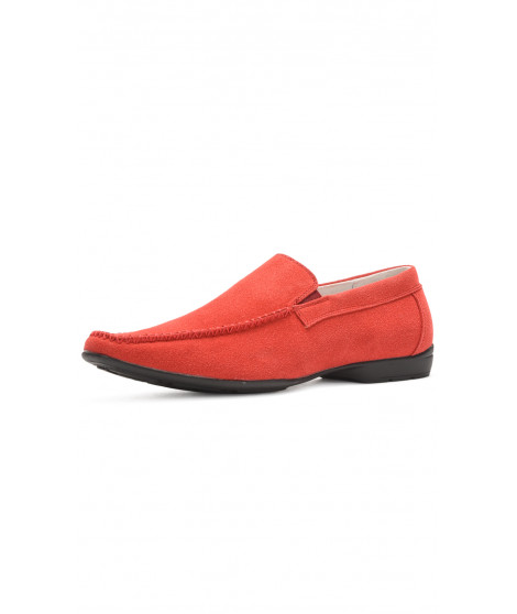 Mocassins à Bouts ronds ROSHI Rouge