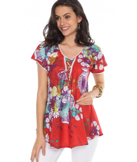Blouse DIANA1 Rouge