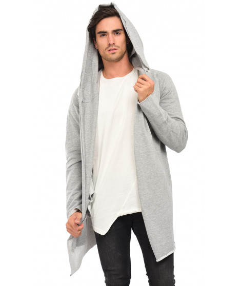 Gilet effet sweat H1193G20502A Light Grey Gris