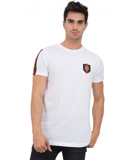 T-shirt col rond manches courtes MEXIL WHITE Blanc