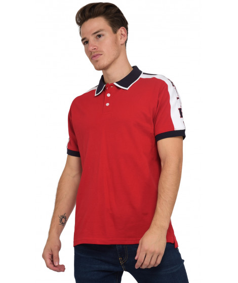 Polo manches courtes POKINIL RED Rouge