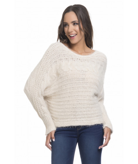 Pull manches longues chauve-souris PULL3716 Beige
