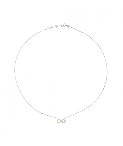 Collier Infini Argent TAG-CLEOPATRA Argent / Blanc