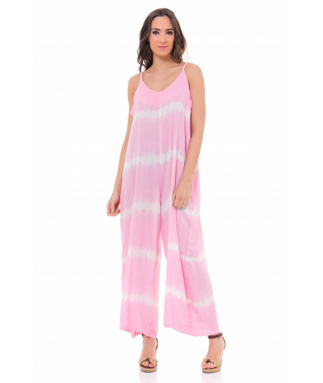 Combinaison pantalon tie and dye JUMP3949 Rose