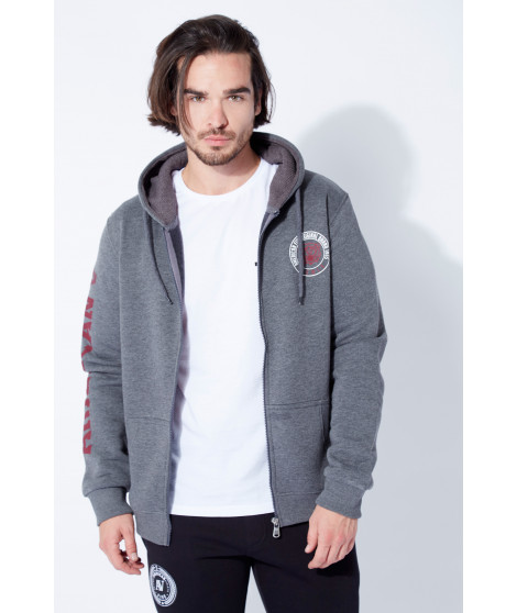 Sweat TAYLOR NEW GRIS ANTHRACITE Anthracite / Bordeaux