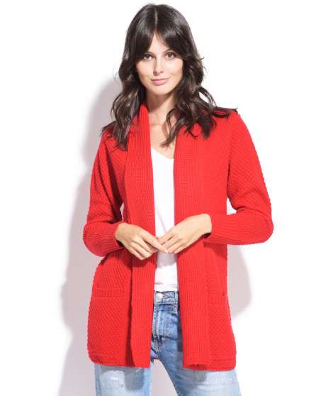 Long gilet en cachemire 1247023 Rouge