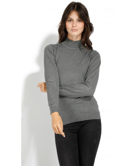 Pull en cachemire manches longues 1246642 Anthracite
