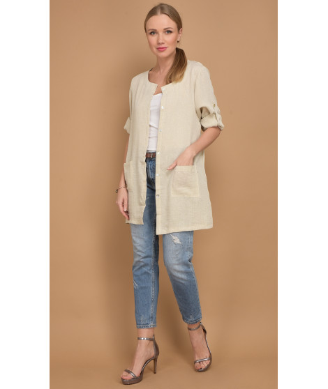 Chemise A54-H2493 Beige