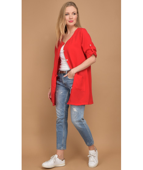 Chemise A54-H2493 Rouge