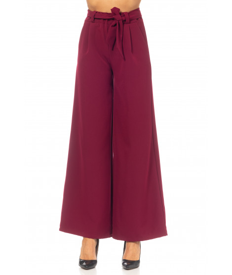Pantalon city large PANT4042 Bordeaux