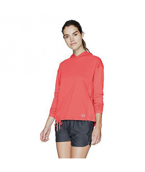 Tee-shirt Manches Longues Femme Under Armour 1320799-819 Corail (Taille usa)