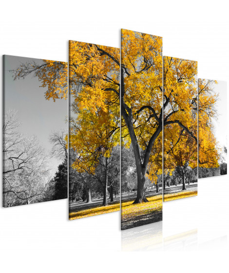Tableau - Autumn in the Park (5 Parts) Wide Gold