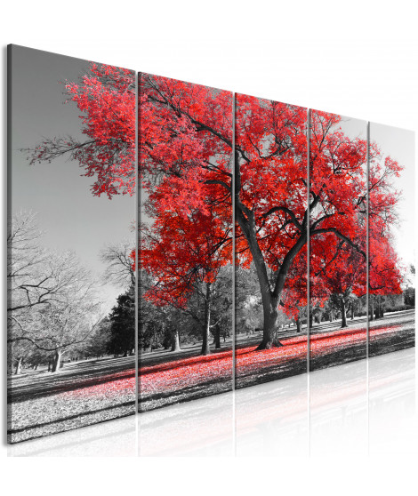 Tableau - Autumn in the Park (5 Parts) Narrow Red