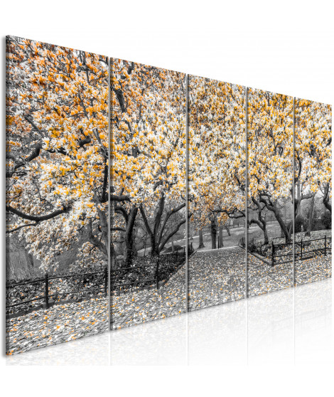 Tableau - Magnolia Park (5 Parts) Narrow Orange