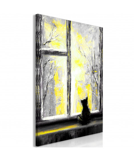 Tableau - Longing Kitty (1 Part) Vertical Yellow