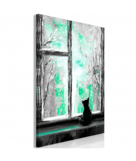 Tableau - Longing Kitty (1 Part) Vertical Green