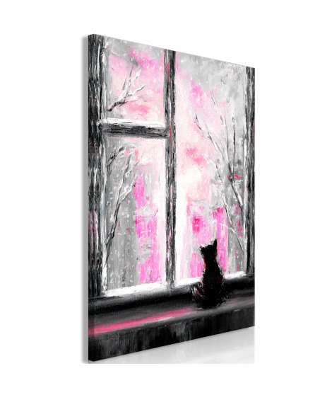 Tableau - Longing Kitty (1 Part) Vertical Pink