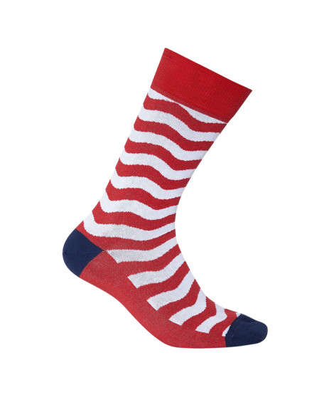 Chaussettes Vague 1SOVAGUE19 Rouge / Blanc / Bleu marine