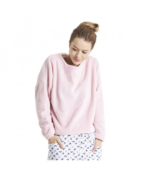 Sweats polaire Star LILSTARH19 Rose clair