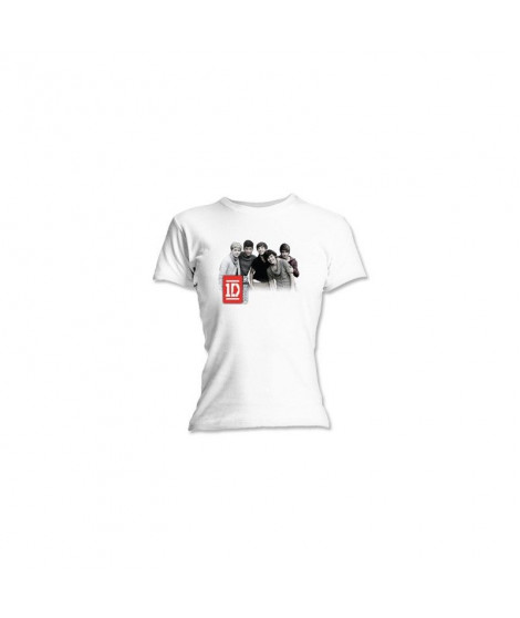 T-shirt femme ONE DIRECTION Group Photo Blanc