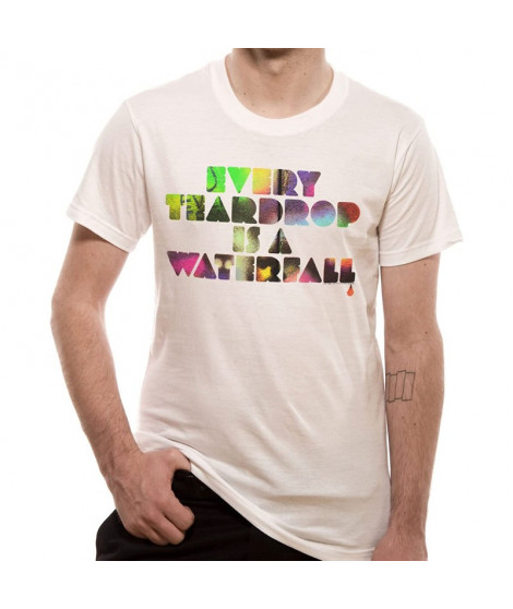 T-shirt Coldplay blanc MULTI COLOURED EVERY TEARDROP