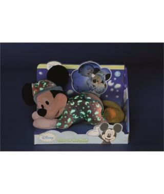 DISNEY Mickey brille dans la nuit 30cm - Bleu