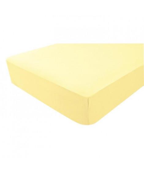 DOUX NID Drap-housse en jersey - Paille - 70x140 cm