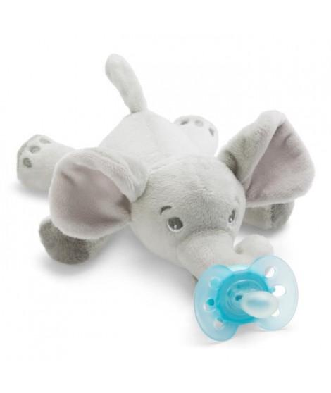 PHILIPS AVENT Peluche Sucette Ultra Douce 0-6 mois modele Elephant