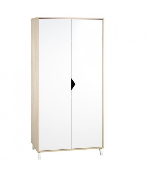 Babyprice - SCANDI NATUREL - Armoire 2 Portes