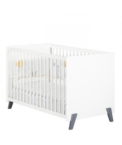 Babyprice - JOY GRIS - Lit Bébé 120 x 60
