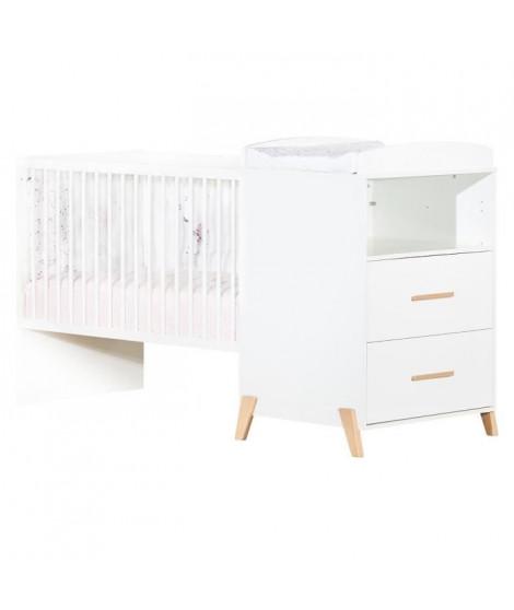 Babyprice - JOY NATUREL - Lit Combiné Evolutif 120x60 en 90x190